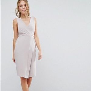 "ASOS ""Closet"" Brand Side Cut-Out Midi Dress"